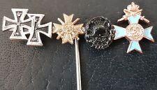 ✚7696✚ German post WW1 WW2 1957 pattern miniature pin badge Iron Cross War Merit