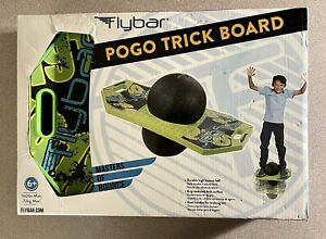 Flybar Pogo Ball for Kids, Jump Trick Bounce Board with Pump Strong Grip Deck