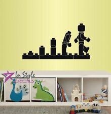Wall Vinyl Decal Lego Evolution Robot Toys Boys Playroom Kids Room Sticker 2118