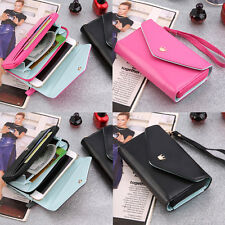 Multi Propose Women Purse Pouch Case Wristlet Wallets for Cell Phone Gift YT