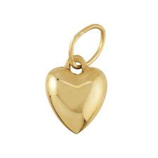 14kt Yellow Gold Puff Heart Pendant/Charm 11.3mm x 6.3mm