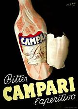 BITTER CAMPARI L'APERITIVO CARLO FISANOTTI 1948 ORIGINAL ITALIAN DRINKS POSTER
