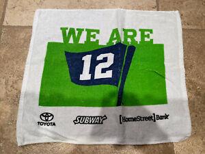 "Seattle Seahawks ""We Are 12"" Rally Towel 15""x18"" SGA CenturyLink Toyota Subway"