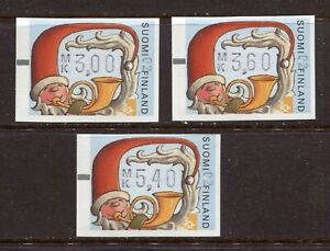 FINLAND 2001, MACHINE-AUTOMATE LABELS FOR CHRISTMAS - SANTA CLAUS (2.4.2001) MNH
