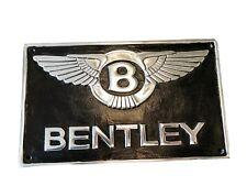 Bentley Firmare Alluminio Lucido Muro Arte Logo Migliore Qualità Nero