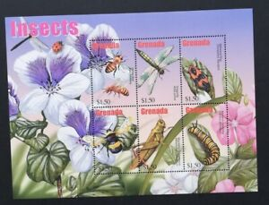 GRENADA-INSECTS-1 M/Sh. MNH**,CW 487