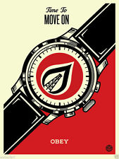 SHEPARD FAIREY OBEY GIANT PRINT TIME TO MOVE ON WATCH mr brainwash banksy laws