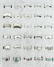 - Some Signed, 79 Grams - Not Scrap Vintage .925 Sterling Silver Lot Of 30 Rings