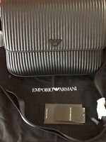 Authentic Emporio Armani Milano Flap Leather Messenger /shoulder Bag High-End