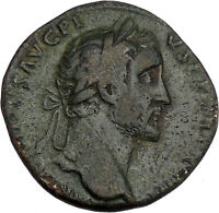 Antoninus Pius Marcus Aurelius Father Big Sestertius Ancient Roman Coin i42153