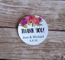 24 Personalised Stickers - Wedding, Hens Party, Baby Shower Thank You Favour tag