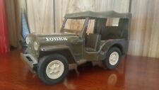 TONKA ~ Vintage Army Jeep with Canopy / Green / Military / Private collection