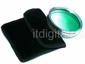 55mm Graduated Green Color Lens Glass Filter Screw-in Half Green Half Clear 55 m