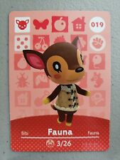 #019 Fauna Series 1 Mint & Never Scanned Animal Crossing Amiibo Card