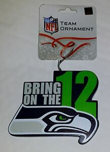 Seattle Seahawks Christmas Tree Ornament BRING ON THE 12 - New - EXCLUSIVE