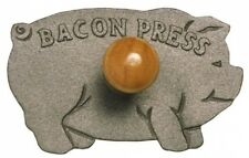 Norpro Cast Iron Bacon Grill Press Burgers Meat Chicken BBQ Barbecue Food Fry