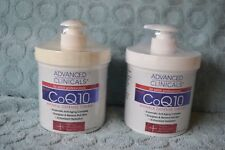 Advanced Clinicals CoQ10 Wrinkle Defense Cream with Peptides, Honeysuckle, x 2