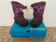 Columbia Toddler'S Girl'S Printed Twin Tundra Waterproof Boots Size 6 New In Box