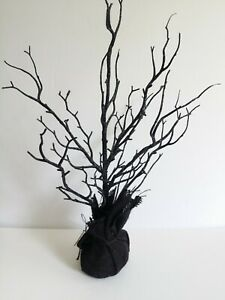 "Halloween Spooky Glitter Tree 17"" inches Black Decoration"