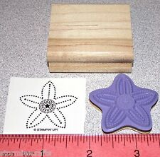 Stampin Up Polka Dot Punches Stamp Single Flower Blossom Design Nice Colored In