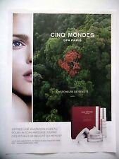 PUBLICITE-ADVERTISING :  CINQ MONDES Spa Paris  2015 Cosmétique