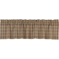 "Lodge//Cabin Dark Red /& Black Lumberjack Plaid 16/"" x 72/"" Cotton Window Valance"