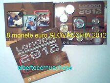 2012 8 monete 3,88 euro SLOVACCHIA Slovaquie Slovakia Slovenska Londra London