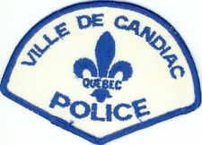 Ville de Candiac Police, Quebec, Canada HTF Vintage Uniform/Shoulder Patch