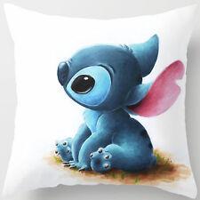 18'' Super Soft Cotton Velvet Disney Blue Stitch Pillow Case Cushion Cover RC12