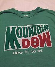 Mountain Dew Men's Short Sleeve Shirt Size 2xl Xxl 50/52