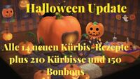 Animal Crossing NH 🎃alle 14 Kürbis-Rezepte plus Materialien zu Halloween🎃