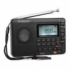 Retekess V115 Portátil Radio de Onda Corta AM / FM / SW Transistor Recoder