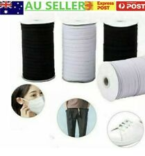 3mm 5mm 6mm Braided Elastic for mask,strap, sewing white / black