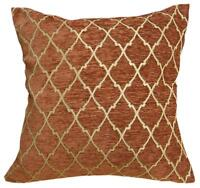 Wd35Aa Reddish Brown Damask Chenille Flower Throw Cushion Cover//Pillow Case*Size