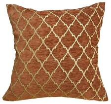 Wd25Ba Reddish Brown Damask Chenille Check Throw Cushion Cover/Pillow Case *Size