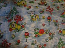 Blue Vintage MAGIC ROUNDABOUT Fabric (50cm x 50cm)