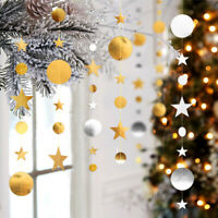 4M Star Circle Mix Hanging Paper Garland Chain Wedding Party Home Banner Decor