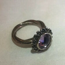 New Authentic Pandora Sterling  Amythest Floral Elegance Ring - 190850 Size 7
