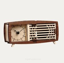 Wood Retro Radio Table Clock Assembly Kit Desk Bedside phone resonance speaker