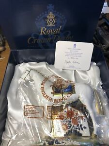 """Royal Crown Derby Paperweight """"RACE HORSE"""" Limited Edition 708/1500 cert Boxed"""