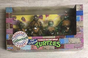 Vintage 1992 TMNT Ninja Turtles Lot Special Collectors 4-Pack Complete Rare