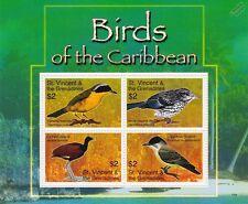 Birds of the Caribbean / Bird 4v Stamp Sheet (2007 St Vincent & Grenadines)