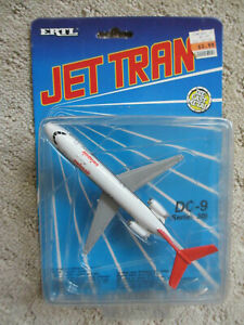 1990 Ertl Jet Tran Continental DC-9 Diecast Commercial Airliner Airplane #2363
