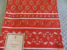 French Provencal Avignon fabric orange &red kitchen towel, Nice!