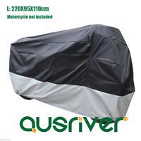 210D Motorcycle Cover Waterproof Dustproof Elastic Edge for Honda L 220x95x110cm