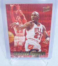 1995-96 Fleer Ultra Basketball Michael Jordan Double Trouble Card #3 of 10 BULLS
