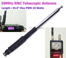 "Ham Amateur Radio 6 Meter 6m Band 50MHz 45.5"" BNC QRP Telescopic Antenna"