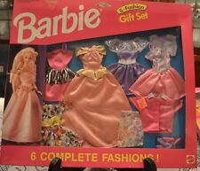 Barbie 6 Complete Fashions Gift Set Mattel 782 1993