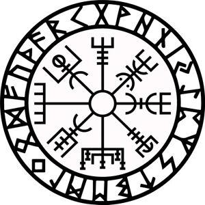 Vegvisir runic compass vinyl sticker decal iPad car window rune viking protect