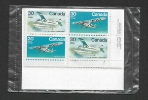 1982 CANADA - PLANES - SEALED SET OF 4 CORNER BLOCKS WITH INSCRIPTIONS - MNH.